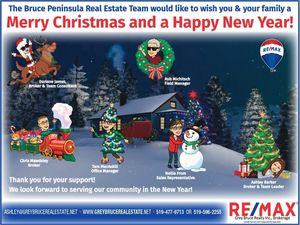 Thank You From The Bruce Peninsula Real Estate Team RE/MAX
