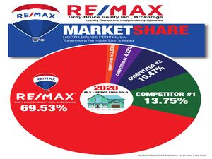 Selling Real Estate The Bruce Peninsula 2020 stats